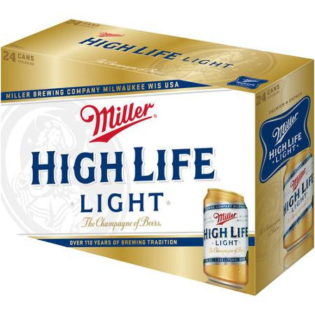 Miller High Life Light Beer, 12 fl oz, 24 pack