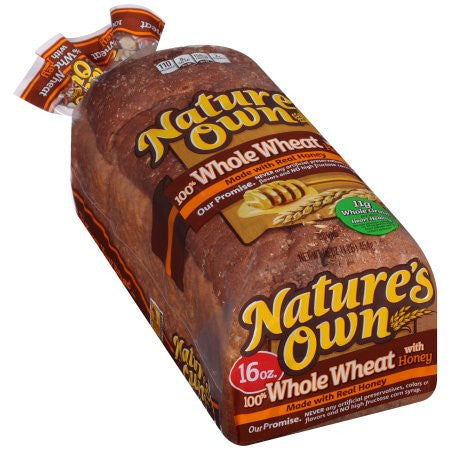 Nature's Own® 100% Whole Wheat with Honey Bread 16 oz ...