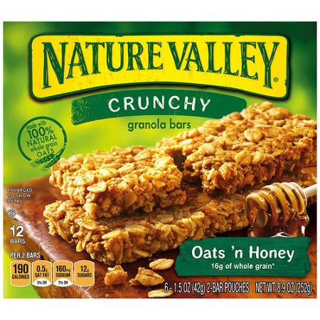 Nature Valley Crunchy Granola Bars, Oats n Honey 12 ct box
