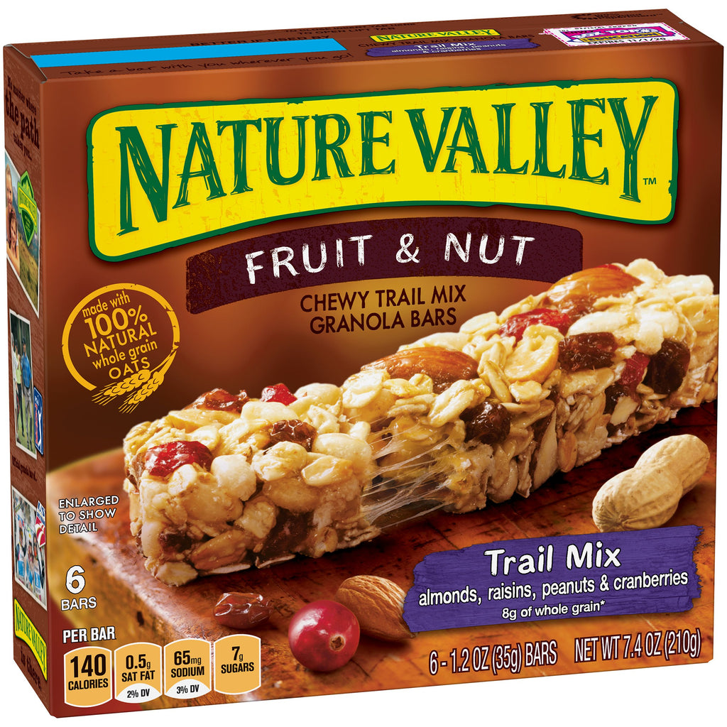 Nature Valley Fruit & Nut Chewy Trail Mix Granola Bars Trail Mix - 6 CT