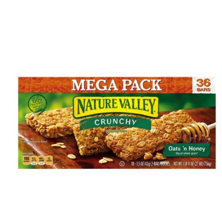 Nature Valley™ Crunchy Granola Bar Oats 'n Honey 36 Bars In 18 - 1.49 oz 2-Bar Pouches