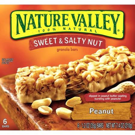 Nature Valley Sweet & Salty Nut Bars, Peanut 6 ct box