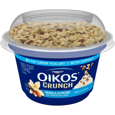 Dannon® Oikos® Greek Yogurt Crunch with Toppings Vanilla Almond 5oz Single Serve