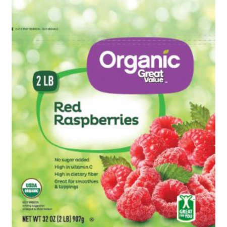 Great Value Organic Red Raspberries, 32 oz