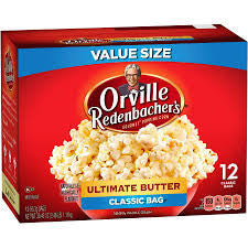 Orville Redenbachers Popcorn, Ultimate Butter 10 ct box