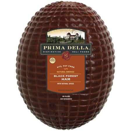 Prima Della Naturally Smoked Black Forest Ham $4.99 1/2 lb