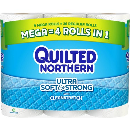 Quilted Northern Ultra Soft & Strong Toilet Paper Mega Rolls 9 rolls = 36