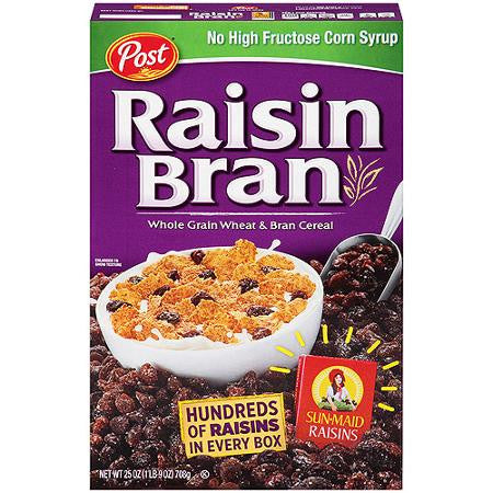 Post Raisin Bran Cereal 25 oz box