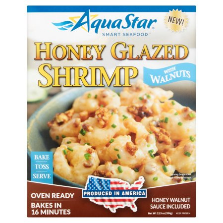 Aqua Star Honey Glazed Shrimp with Walnuts, 12.5 oz