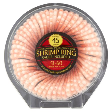 Cooked & Peeled Shrimp Ring, 45 count, 18 oz
