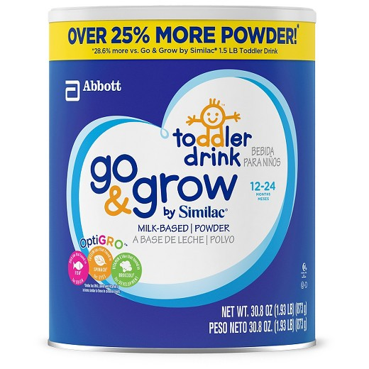 Similac Go & Grow Milk-Based Toddler Drink, Value Size, 1.93 lb