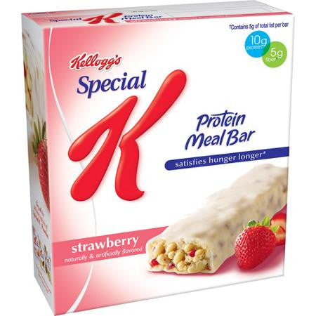 Special K Cereal Bars, Strawberry Protein Meal Bars 6 ct box