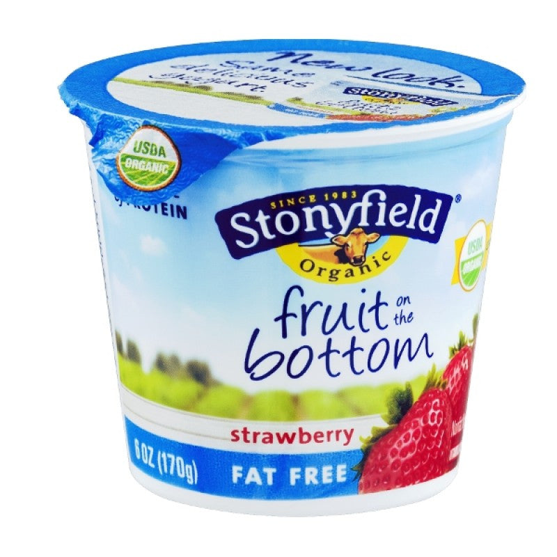 Stonyfield Organic Smooth & Creamy Strawberry Lowfat Yogurt, 6 oz