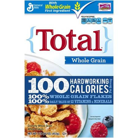 Total Whole Grain Cereal 16 oz box