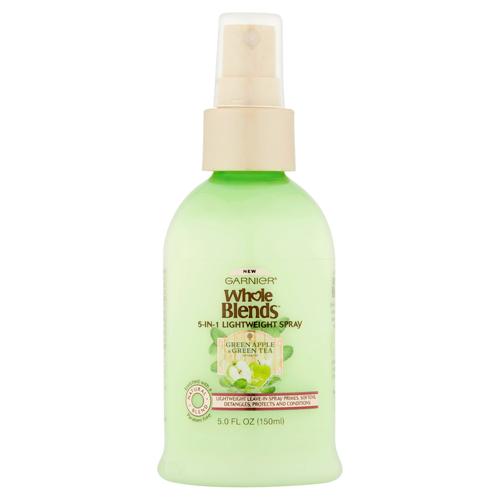 Garnier Whole Blends Green Apple & Green Tea Extract 5-in-1 Lightweight Spray, 5.0 fl oz
