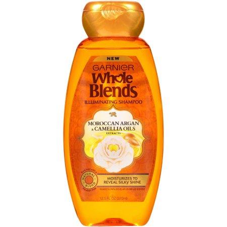 Garnier Whole Blends Illuminating Shampoo with Moroccan Argan and Camellia Oils Extracts, 12.5 fl oz