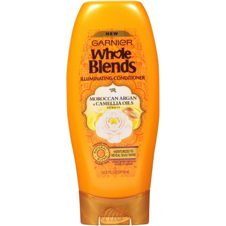 Garnier Whole Blends Illuminating Conditioner Moroccan Argan and Camellia Oils Extracts, 12.5 fl oz