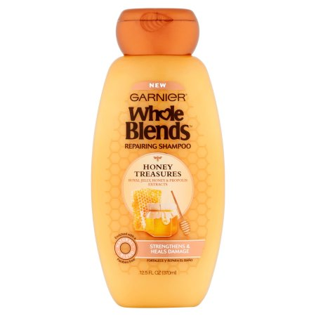 Garnier Whole Blends Honey Treasures Repairing Shampoo, 12.5 fl oz
