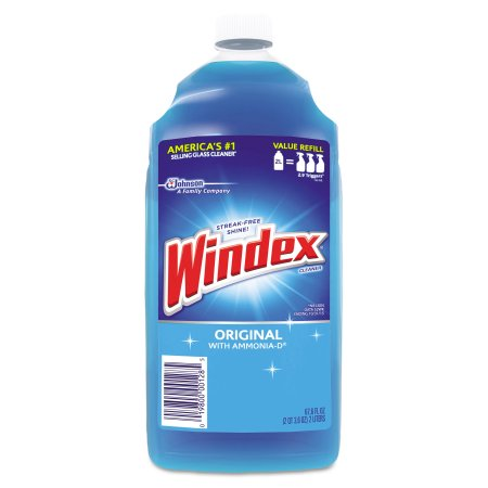 Windex Original Glass & More Cleaner with Ammonia-D Refill, 67.6 fl oz