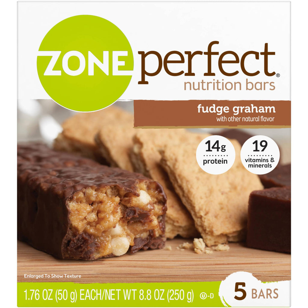 Zone Perfect Fudge Graham Nutrition Bars, 5ct