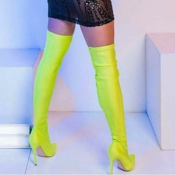 Neon Light Thigh High