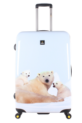 National Geographic Polar Bear Hardside 4-Wheel Suitcase (Large)