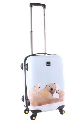 National Geographic Polar Bear Hardside 4-Wheel Suitcase (Small/Hand Luggage)