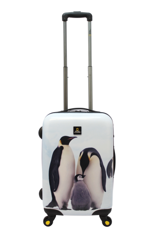 National Geographic Pingu Hardside 4-Wheel Suitcase (Small/Hand Luggage)