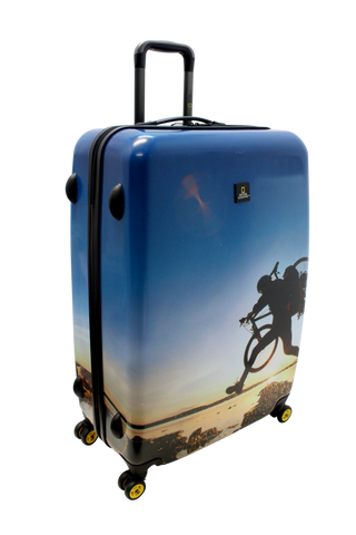 National Geographic Bicycle Hardside 4-Wheel Suitcase (Large)