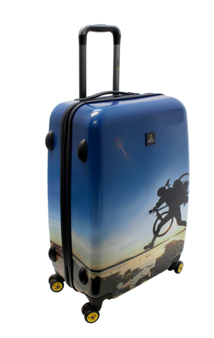 National Geographic Bicycle Hardside 4-Wheel Suitcase (Medium)