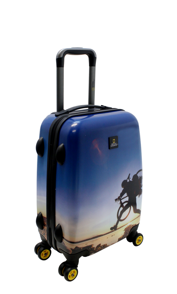 National Geographic Bicycle Hardside 4-Wheel Suitcase (Small/Hand Luggage)