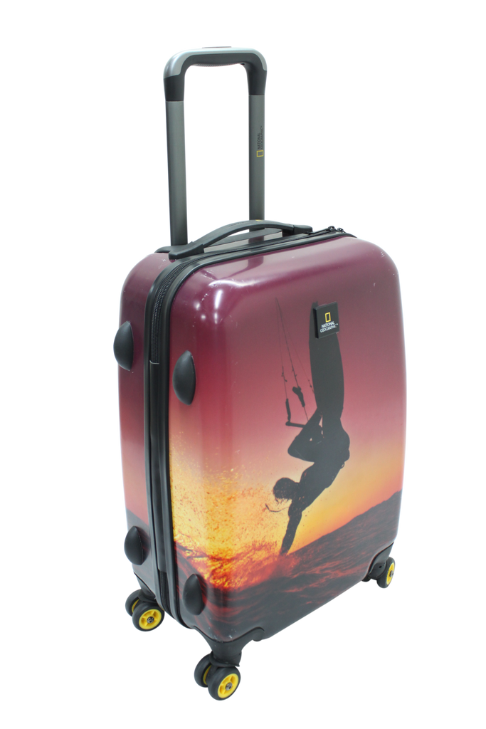 National Geographic Sky Surf Hardside 4-Wheel Suitcase (Small/Hand Luggage)