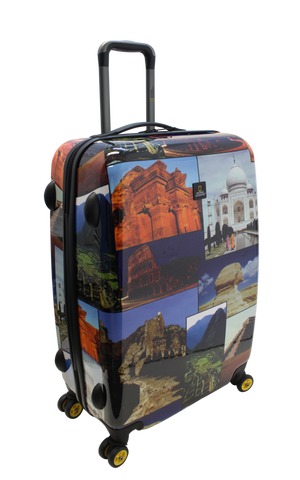 National Geographic Wonders of the World Hardside 4-Wheel Suitcase (Large)