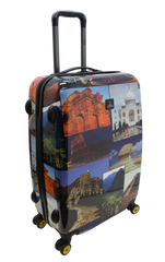National Geographic Wonders of the World Hardside 4-Wheel Suitcase (Medium)