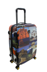 National Geographic Wonders of the World Hardside 4-Wheel Suitcase (Small/Hand Luggage)