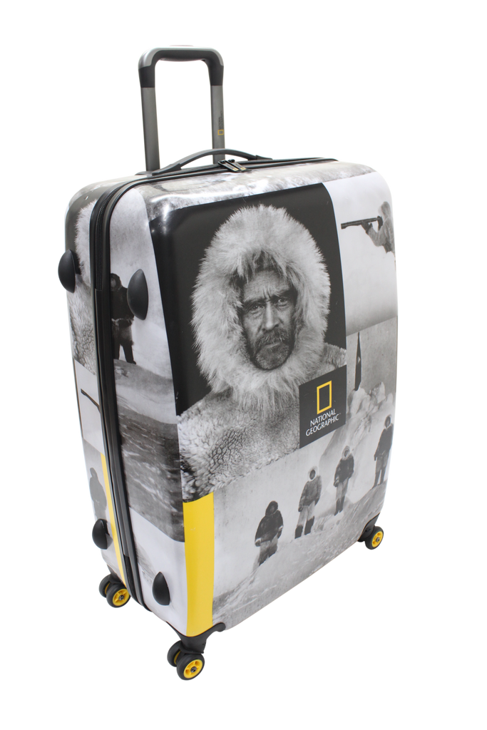 National Geographic Robert E. Peary Hardside 4-Wheel Suitcase (Large)