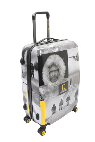 National Geographic Robert E. Peary Hardside 4-Wheel Suitcase (Medium)