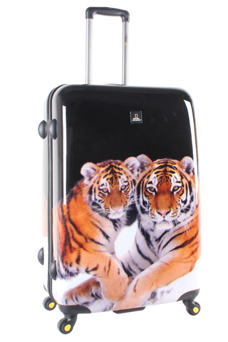 National Geographic Tiger Hardside 4-Wheel Suitcase (Large)