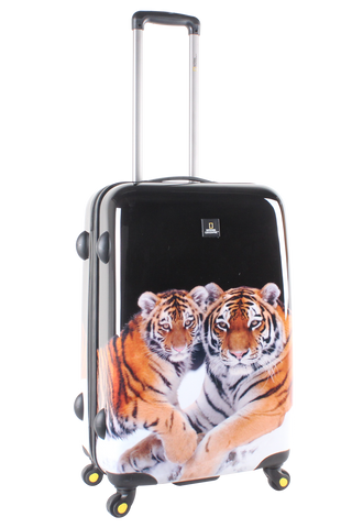 National Geographic Tiger Hardside 4-Wheel Suitcase (Medium)