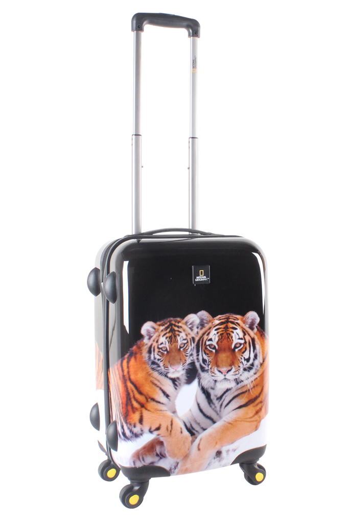 National Geographic Tiger Hardside 4-Wheel Suitcase (Small/Hand Luggage)