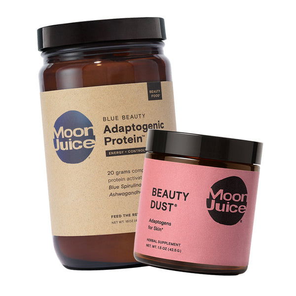 blue beauty protein with beauty dust