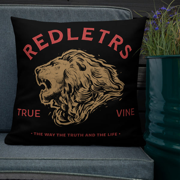 REDLETRS & STRIPES Premium Pillow