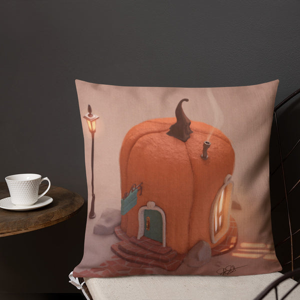 Premium Pillow Pumpkinville Home