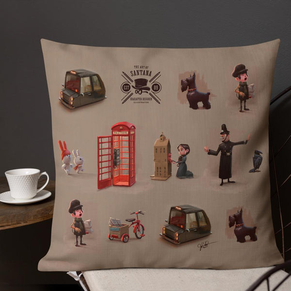 London Characters Premium Pillow