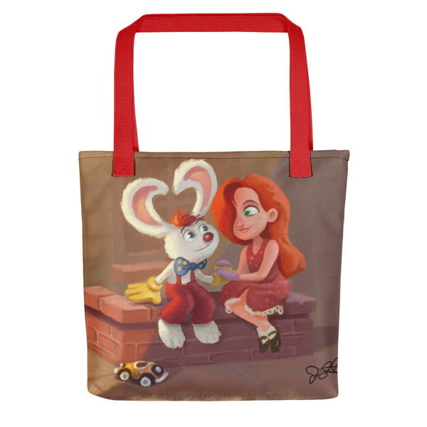 Roger and Jess Tote bag