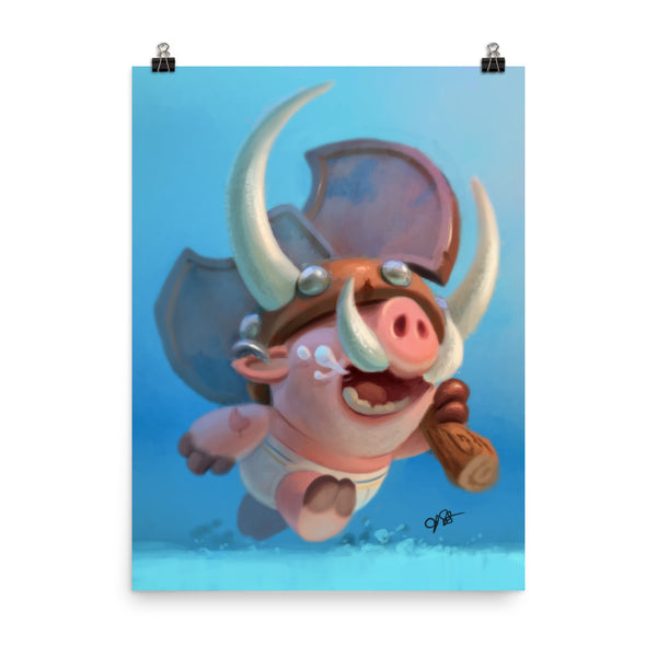 Piggy Viking Poster