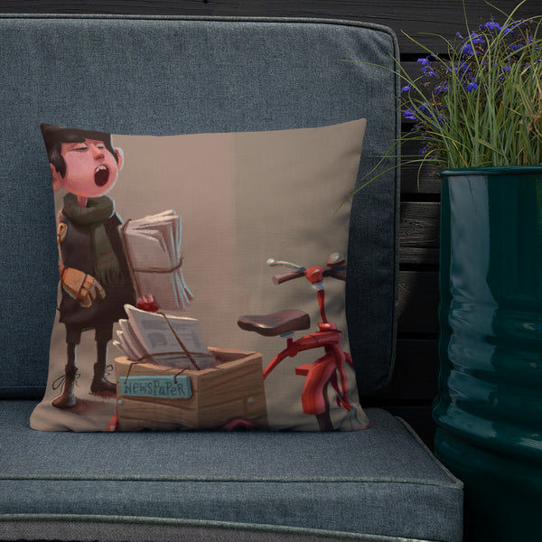 London Paperboy Premium Pillow
