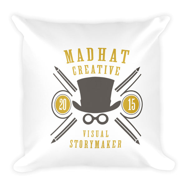 Square Pillow  -  MadHat Creative