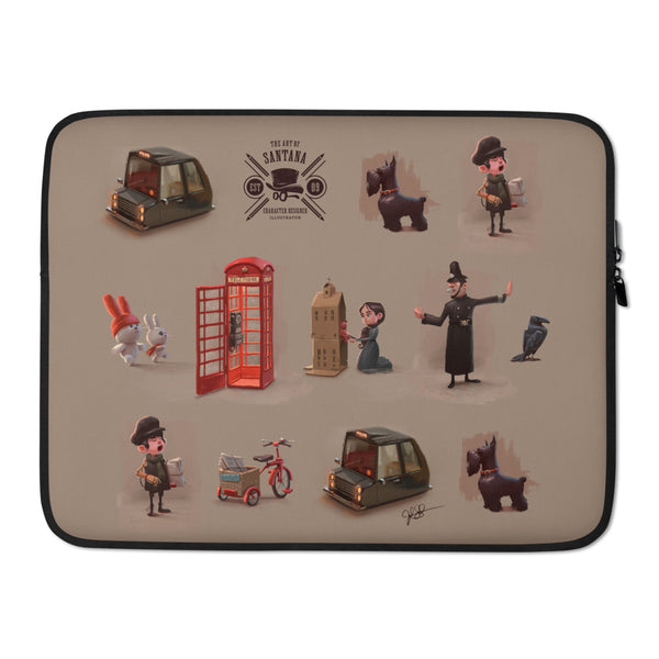 London Characters Laptop Sleeve