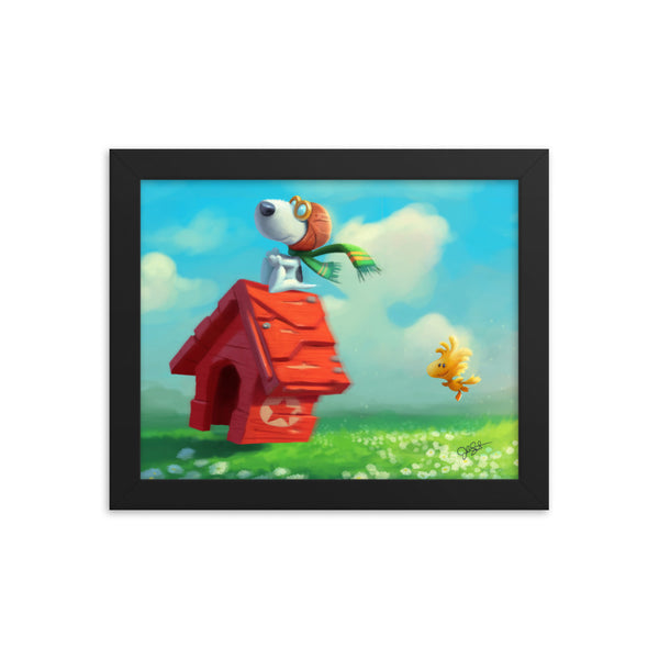 Flying Ace Framed poster